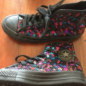 Converse all-star sequined hightops
